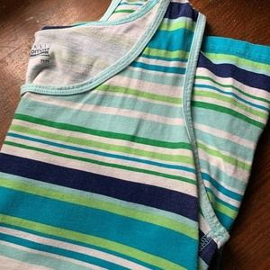 Basic Editions Blue Striped Tank